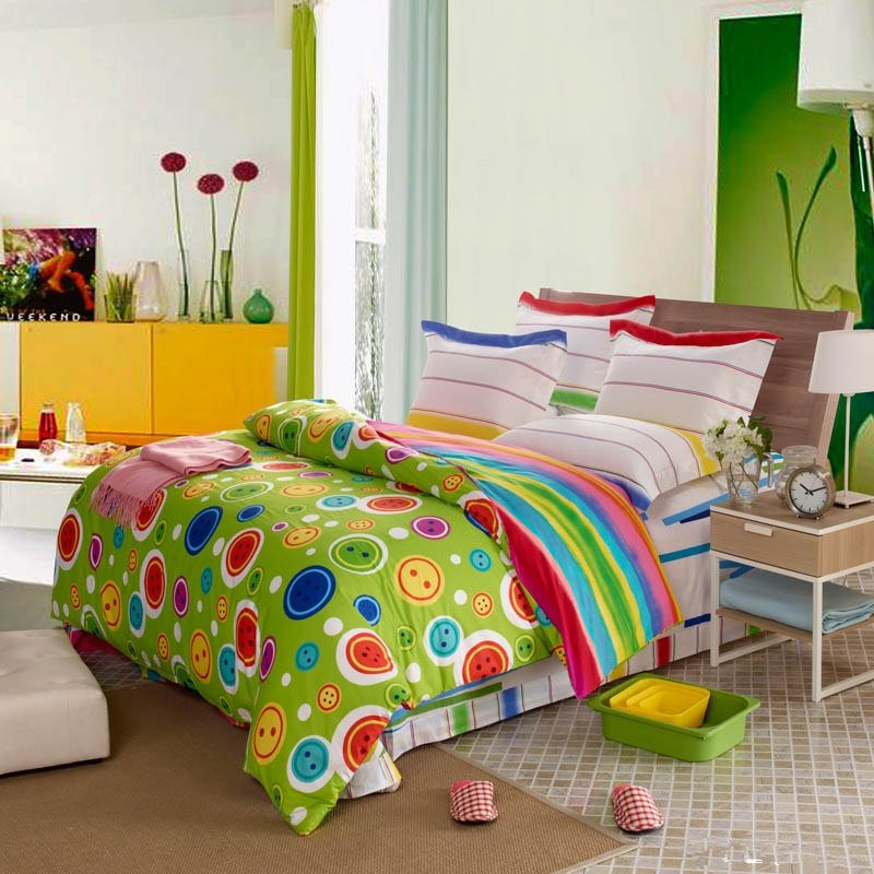 Lime Green Red And Yellow Girls Polka Dot And Circles
