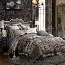 Grey Traditional Gorgeous Royal Pattern Tribal Print Western Style Full, Queen Size Bedding Sets