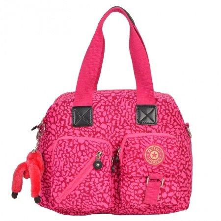Hot Pink Lightweight Nylon Crossbody Shoulder Motorcycle Purse Luxury Water-proof Leopard Print Casual Women Medium Tote Bag