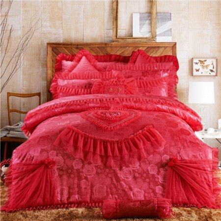 Watermelon Red Girls Victorian Heart Princess Style Girly