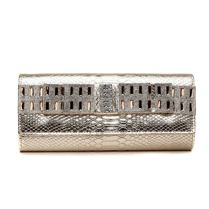 Western Gold Patent Leather Bling Rhinestone Lady Flap Evening Clutch Stylish Embossed Crocodile Small Casual Party Crossbody Shoulder Bag