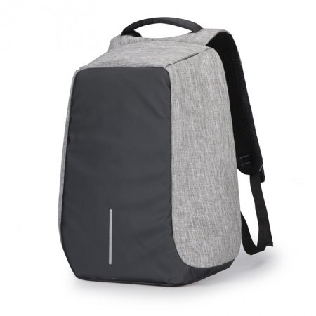 Durable Black and Grey Oxford Men Large Casual Travel Sport 15 Inch Laptop Backpack Lightweight Masculine Preppy School Campus Book Bag