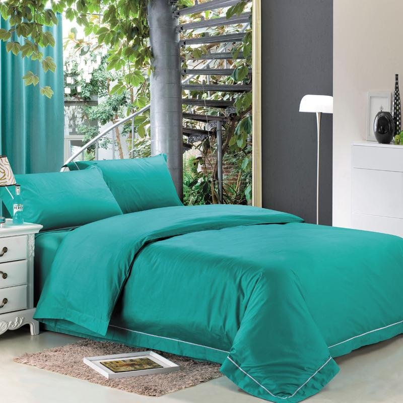 Turquoise Shabby Chic Bedrooms: Western Turquoise Green Solid Pure Color Teen Girls Simply