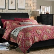 Red Luxury Modern Chic Indian Tribal Print Southwestern 100% Egyptian Cotton Full, Queen Size Bedding Sets