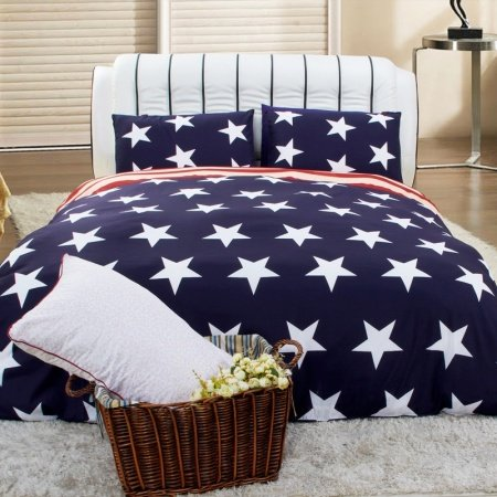 Red White And Blue Striped Bedding