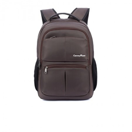 Solid Maroon Brown Durable Oxford Waterproof Travel Backpack Contracted Fine Quilted Large School Bag for Men and Boys