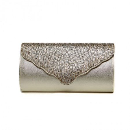 Hipster Champagne Gold Patent Leather Lady Evening Party Flap Clutch Wallet Bohemian Western Bling Rhinestone Crossbody Shoulder Bag