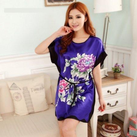 Amethyst Big Peony Flower Sexy Elegant One Piece Dress Free Size Girls Pajamas