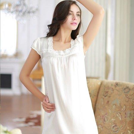 Snow White 100% Pure Silk Sling Dress Nightgown Princess Pajamas