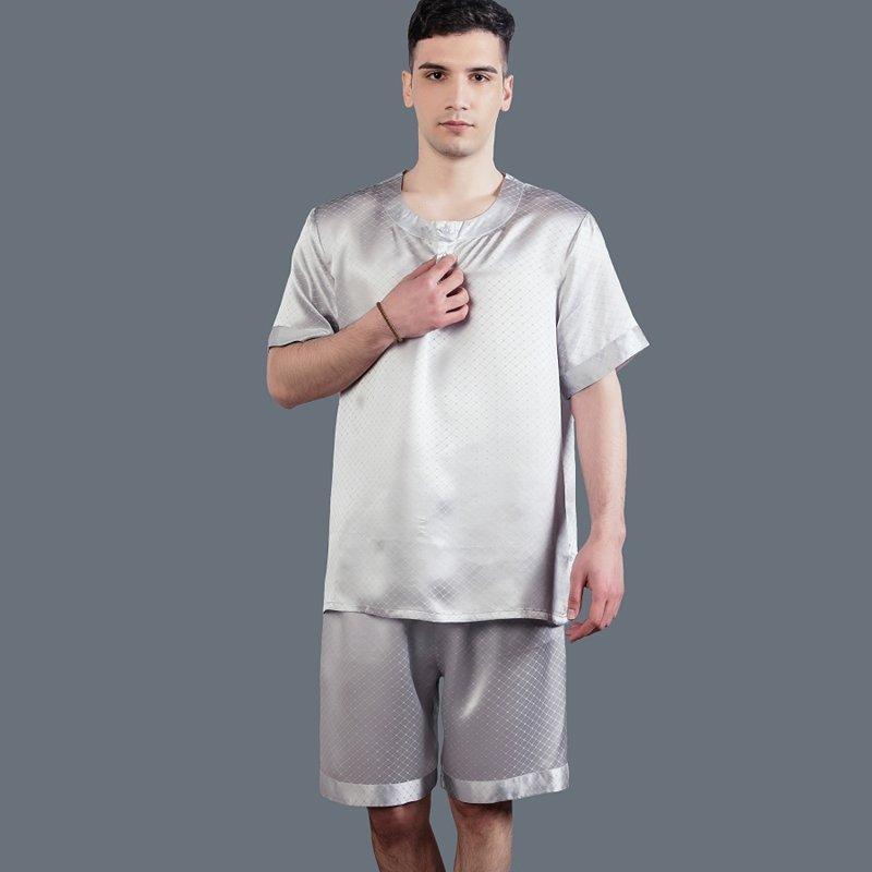 100% Pure Silk Pajamas for Masculine Boys