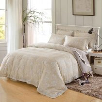 Camel and Beige Shabby Chic Paisley Park Western Style Bohemian Chic 100% Egyptian Cotton Full, Queen Size Bedding Sets