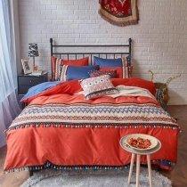 Native American Bohemian Style Chevron Stripe Full, Queen Size Bedding Sets