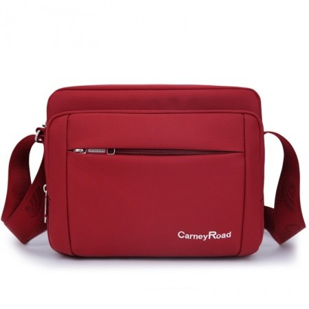 Plain Crimson Red Durable Oxford Crossbody Shoulder Bag Casual Vogue Contracted Korean Style Quilted Women Small Messenger Bag