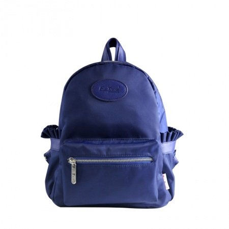 Simply Chic Stylish Korean Style Casual Outdoor Travel Backpack Plain Royal Blue Lightweight Nylon Preppy Small Book Bag for School