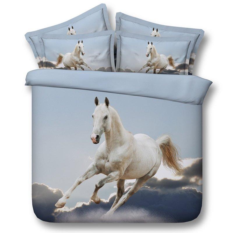 Kids Horse Print Farm Animal Bedding Sets