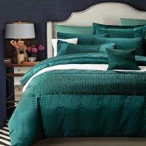 Dark Teal Plain Color Masculine Style Luxury Hotel European Style Unique Design 100% Egyptian Cotton Full, Queen Size Bedding Sets