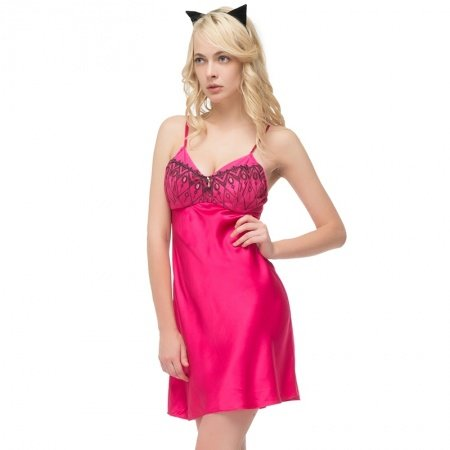 Plain Plum 100% Nature Silk Beaded Black Bud Silk Lace Spaghetti Strap Sling Dress Sexy Pajamas for Feminine Girly M L XL