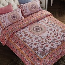 Redwood Brown and Beige Mandala Bohemian Style Shabby Chic Gypsy Themed Full, Queen Size Bedding Sets