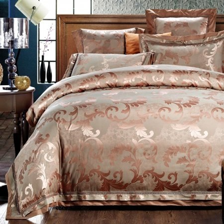 Retro Old Gold Scroll Pattern Bling Boutique Jacquard