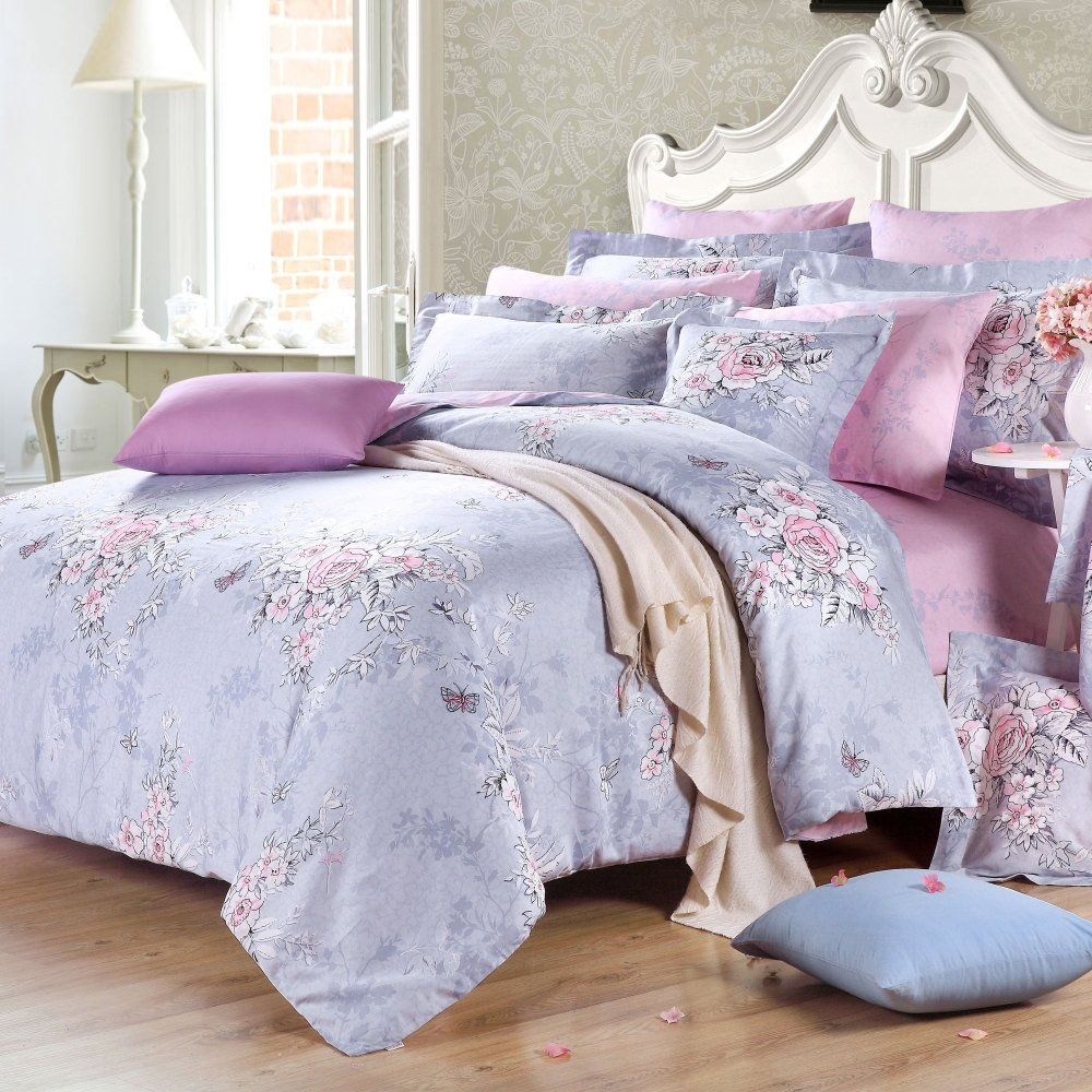 After The Snow Oriental Flower Garden Rustic Chic Nature Fresh World Bedding Sets