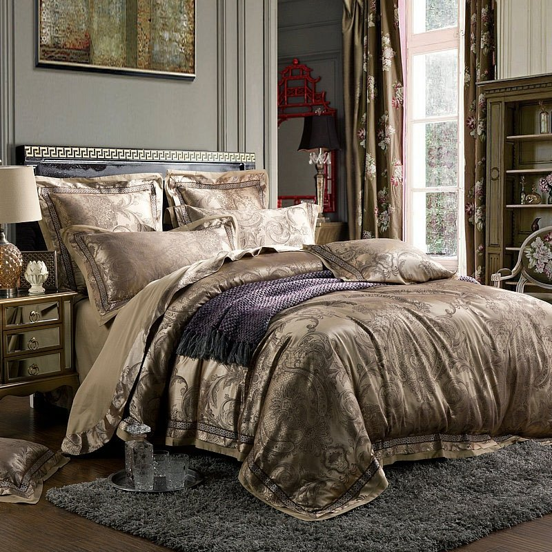 Grey Tribal Print Classic Unique Southwestern Paisley Shabby Chic Full, Queen Size Bedding Sets