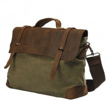 Coyote Brown and Army Green Canvas Leather Vintage Vogue Messenger Bag Korean Style Luxury Trendy Amazing Zipper Men Medium Crossbody Bag