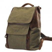 Olive Green Canvas Trendy Korean Preppy Style Satchel Contracted Durable Casual Travel Bag Zipper Hasp Boy Medium Bucket School Backpack