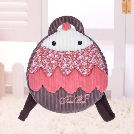 Personalized Cute Wild Animal Hedgehog-shaped Toddler School Backpack Red Coffee Polyester Cool Cartoon Kids Preppy Book Bag