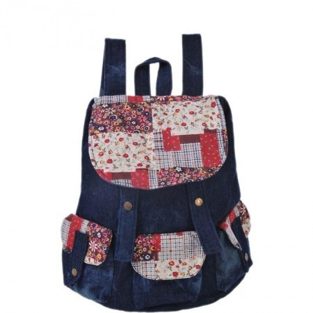 Gorgeous Durable Colorful Canvas Girls Preppy School Book Bag Bohemian Tribal Retro Floral Travel Hiking Bucket Drawstring Flap Backpack