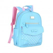 Tiffany Blue Patent Leather Gold Sequin Bow Girls School Backpack Polka Dot Print Sewing Pattern Bottom Studded Pupil Campus Book Bag