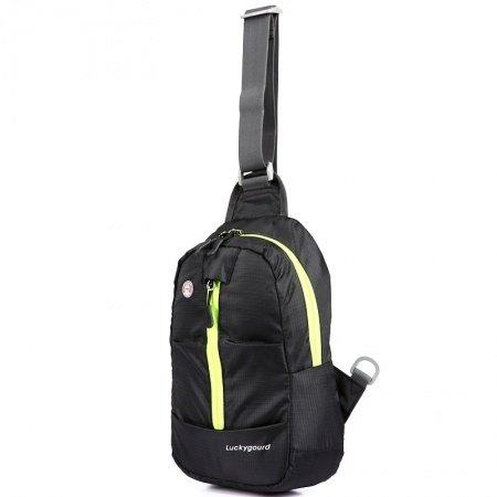 Lightweight Black Oxford Women Small Crossbody Shoulder Chest Bag Top Fashion Grid Plaid Print Travel Hiking Cycling Sling Backpack