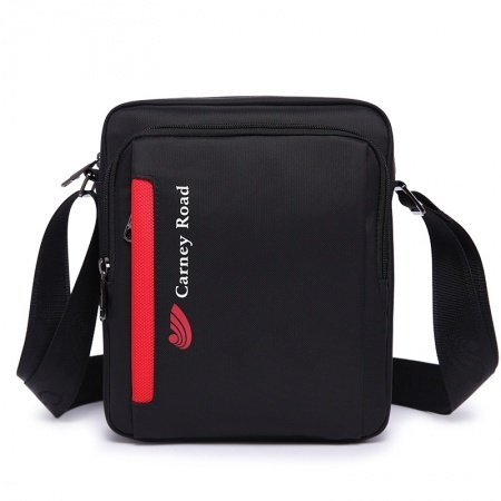 Black and Red Oxford Cool Mitoshop Messenger Bag Fashion Monogrammed Casual Sewing Pattern Men Small Crossbody Shoulder Bag