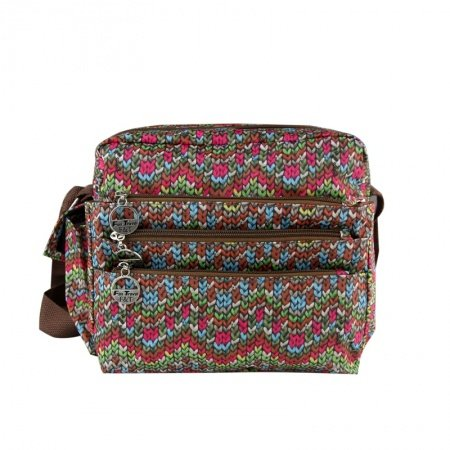 Durable Canvas Personalized Aztec Chevron Stripes Girls Messenger Bag Cool Knitted Crossbody Shoulder Bag In Red Green Brown Blue