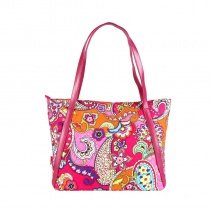 Durable Canvas Personalized American Style Women Large Tote Bag Colorful Bohemian Western Paisley Print Casual Party Shoulder Purse
