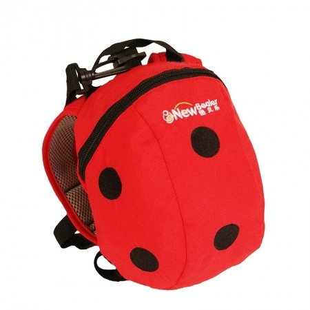Personalized Ladybug-shaped Cute Animal Toddler Small School Backpack Black Scarlet Red Polka Dots Stylish Preppy Kids Book Bag