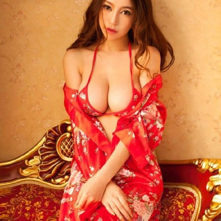 Red Flower Floral Kimono Nightdress 3 Pieces Sexy Lingerie Charming Free Size Pajamas for Women