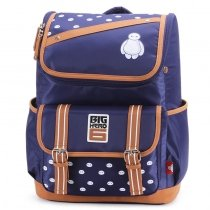 Royal Blue White Nylon with Rust Orange Trim Cool Boys Flap Messenger Backpack Personalized Emoji Pattern Preppy School Campus Book Bag