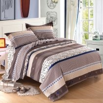 Striped and Ethnic Pattern Shabby Chic Twin, Full, Queen Size Bedding Sets