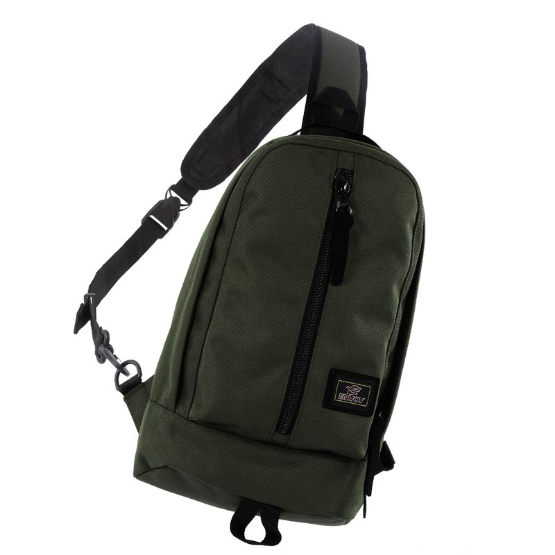 Olive Green Polyester Men Medium Crossbody Shoulder Chest Bag Hipster Sewing Pattern Casual Travel Hiking Cycling Sling Backpack