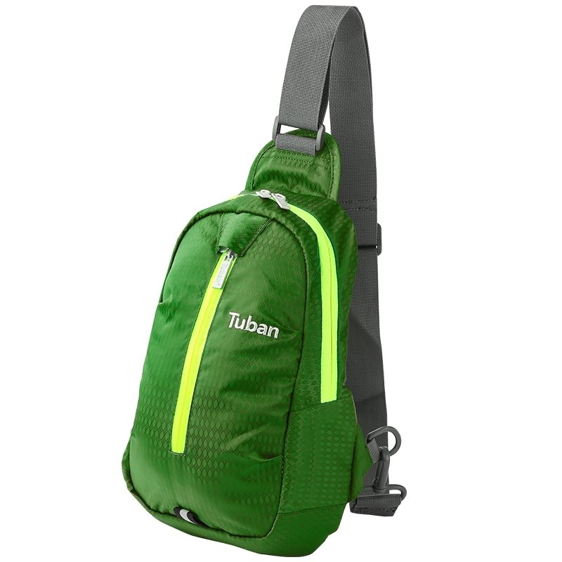 Lime Green Oxford with Yellow Trim Boys Small Crossbody Shoulder Chest Bag Embroidered Monogrammed Argyle Pattern Sling Travel Backpack