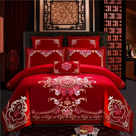 Red And Gold Medieval Indian Pattern Embroidered Boutique
