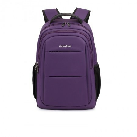 Solid Indigo Purple Oxford Preppy Style School Backpack Vogue Casual Business 14 Inch Laptop Bag Quilted Women Satchel
