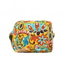 Stylish Canvas Boutique Women Small Box-shaped Crossbody Bag Personalized Colorful Bohemian Western Floral Casual Shoulder Bag