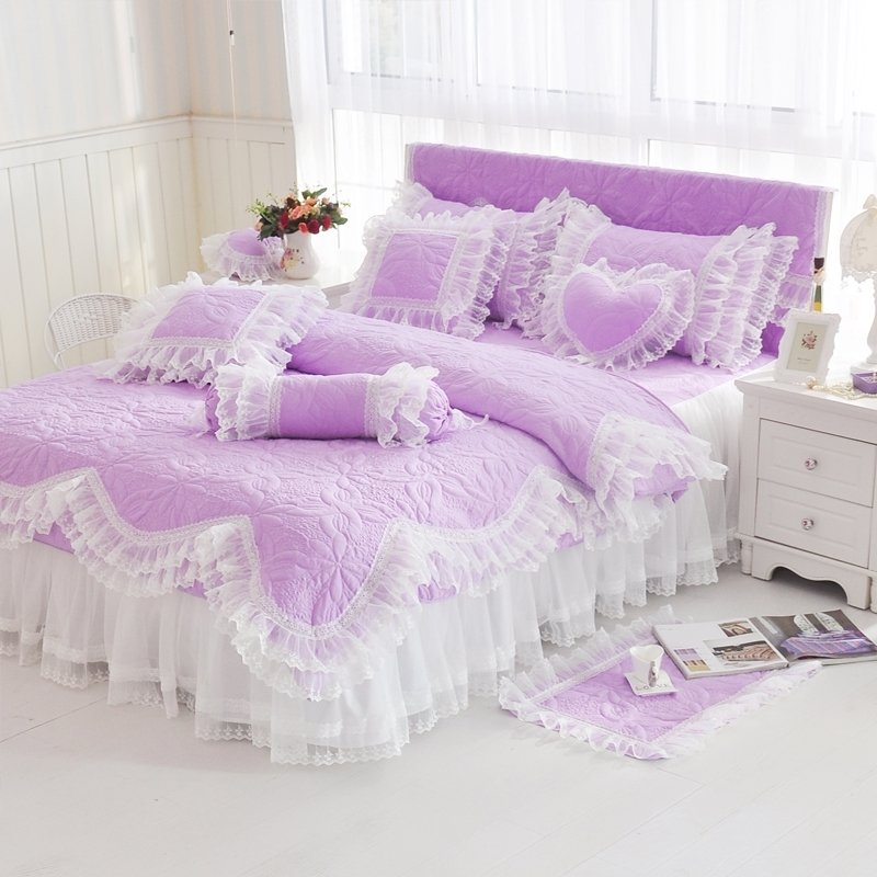 Lavender Bedding With Ruffles