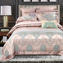 Metallic Gold and Turquoise Bohemian Moroccan Style Indian Pattern Exotic Shabby Chic Full, Queen Size Bedding Sets