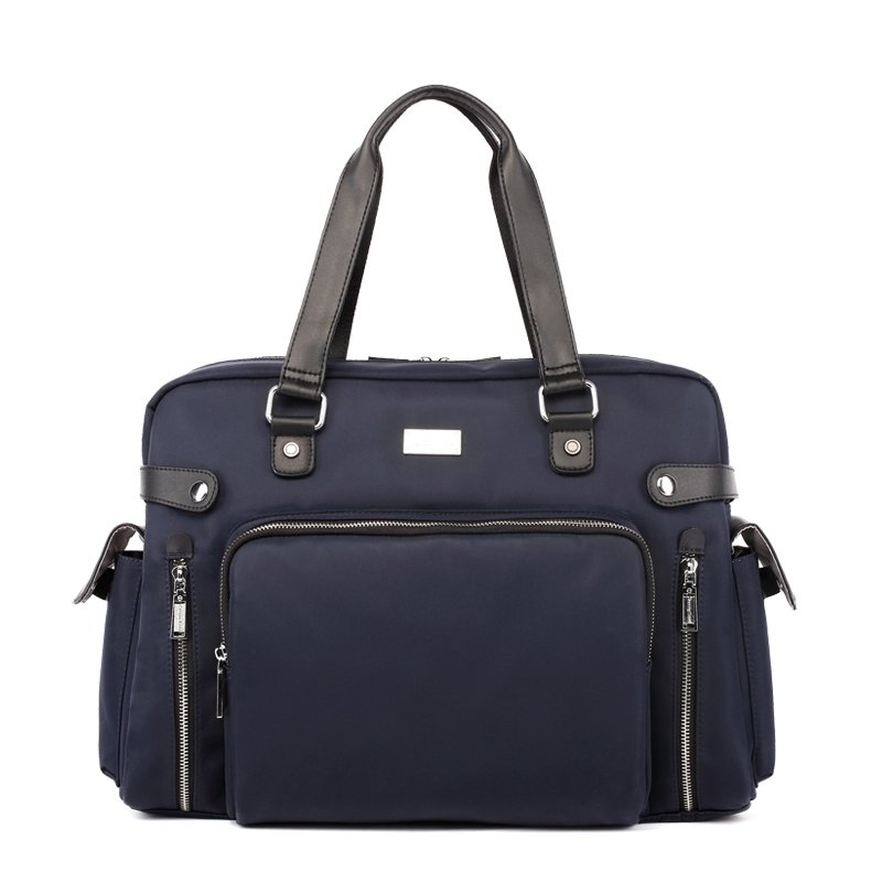 Solid Midnight Blue Vintage Oxford Motorcycle Bag Casual 14 Inch Laptop Tote Sequined Leather Handle Large Crossbody Shoulder Bag
