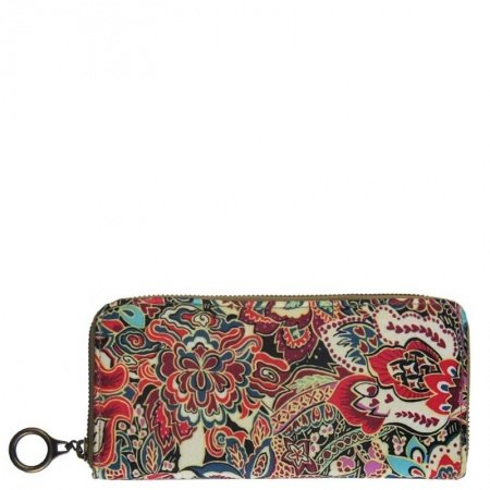 Personalized Bohemian Canvas Casual Women Evening Party Clutch Wristlet Stylish Vintage Indian Style Colorful Floral Mini Wallet Purse