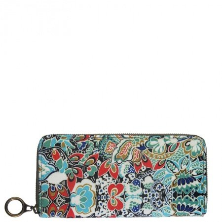Vintage Blue Red White Canvas Casual Girls Party Mini Evening Clutch Wallet Stylish Bohemian Floral Wristlet Personalized Purse