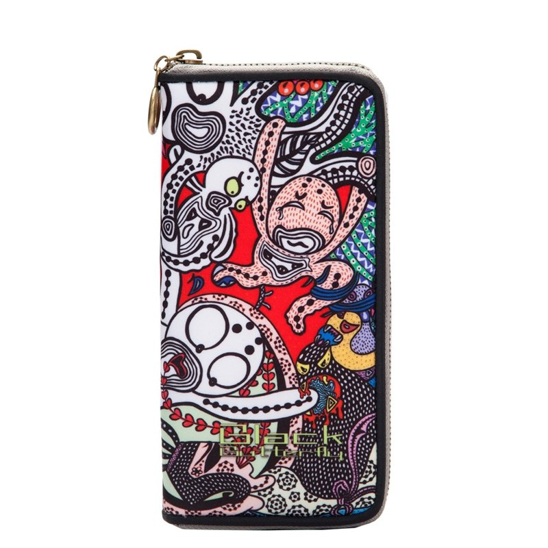 Personalized Bohemian Hip-hop Style Cartoon Character Women Long Clutch Wallet Colorful Polyester Cool Casual Party Wristlet Purse