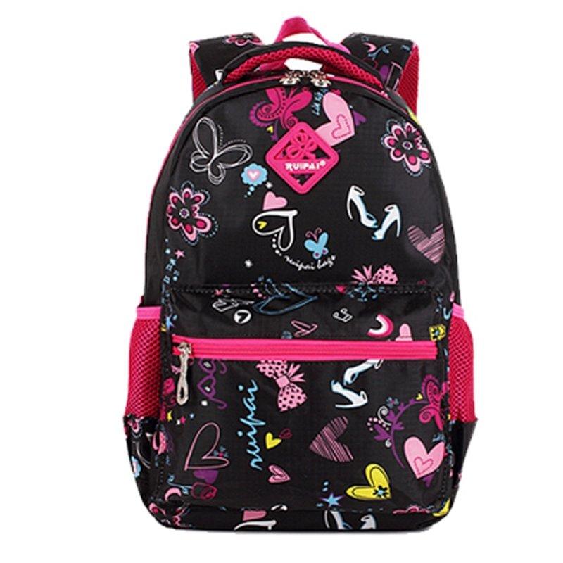 Gorgeous Punk Black Polyester Girls Preppy School Backpack Hippie ...